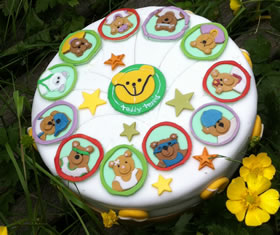 Teddy Tennis Birthday Cake