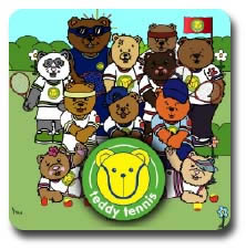 Teddy Tennis Sticker Book